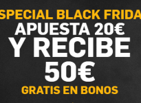 BLACK FRIDAY: 50€ en Betfair para ti!!!