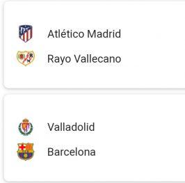 Atletico +1'5 goles / Barcelona +2'5goles